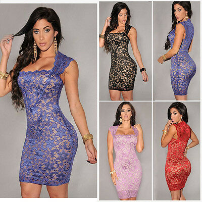 Womens Ladies Sleeveless Bandage Bodycon Evening Party Cocktail Short Mini Dress