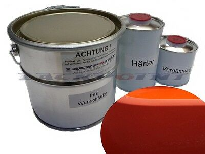 7 Liter Set 2K Car paint Known Orange no clear coat Lackpoint Tuning new