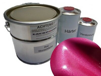 3,5 Liter Set 2K Car paint Brilliant Pink Metallic + Lacque & Dilution Trend