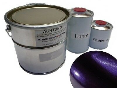7 Liter Set 2K Car paint Dream Violet Metallic + Lacque & Dilution Trend paint