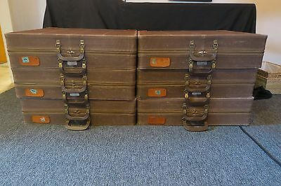 Vintage Herkert & Meisel trunk company shoe salesman case set