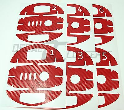 DJI Phantom 4 RED Carbon Fiber Battery 1-6 Skin Stickers Graphic Wrap Decal P4