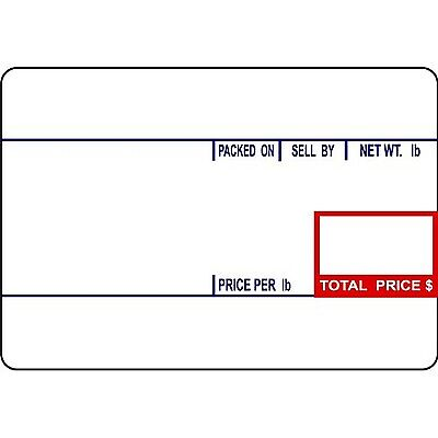 CAS LST-8010 Printing Scale Label 58 x 40 mm UPC 12 Rolls Per Case NEW