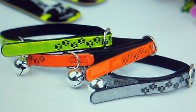 REFLECTIVE CAT COLLAR with BELL & SAFETY ELASTIC