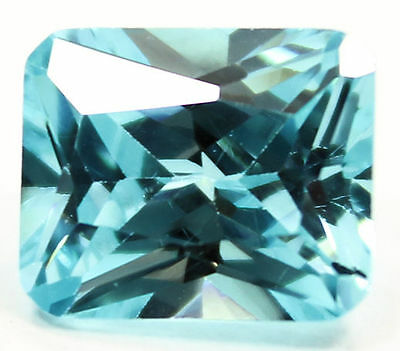 12 X 10 Mm Awesome Octagon Princess Cut Swiss Blue Cubic Zirconia