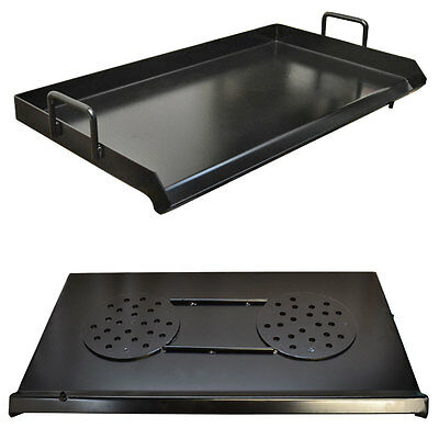 """HD 32"""" Heat Treated Black Steel Flat Top Griddle Grill Plancha for Double Burner"""