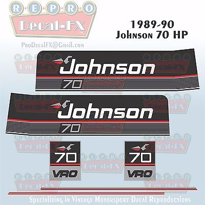 1989-90 Johnson GT 10 HP Outboard Reproduction 17Pc Marine Vinyl Decal Sea-Horse