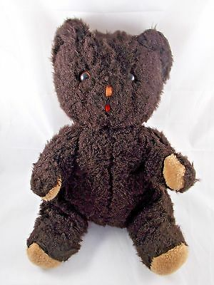 "Vintage Eden Brown Bear Plush Sits 14"" Tall"