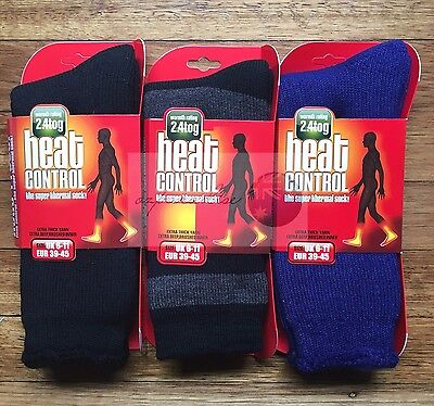6 Pairs TOP QUALITY Men's Thick Winter HEAT CONTROL THERMAL SOCKS NEW SIZE 6-11