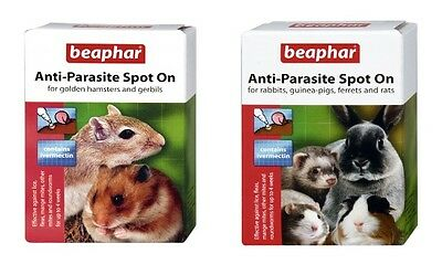 Beaphar Small Animal Anti-Parasite Mite Lice Spot On Ivermectin 4 Week