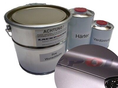 1,75 Liter Set 2K Car paint Diamond Silver Metallic Matte no clear coat Tuning