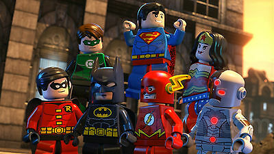 A3 Size - Lego Movie Superheroes 1 Gift /  Wall Decor Art Print Poster