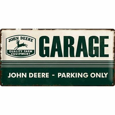 Metal Sign John Deere - JD Parking - Embossed Sign XXL - Protected product