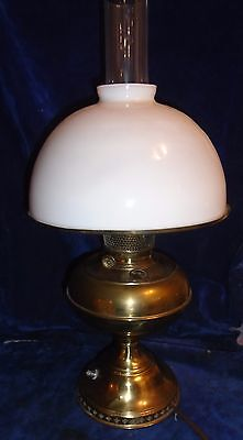 Antique Brass Rayo Kerosene Lamp Converted To Electric
