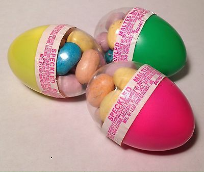 RARE Vintage 1983 Leaf Easter Eggs Set Of 3 Candy Container Woodstock SLK