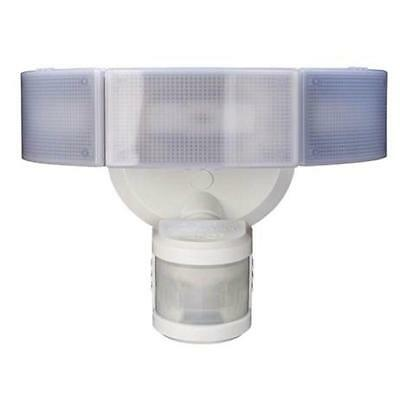 Led Motion Detector Security Flood Light Outdoor 3 Lamp Head Floodlight White