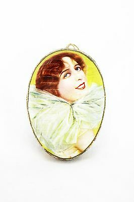 Antique German Lithographed Easter Egg Lady Face Candy Container ca1910