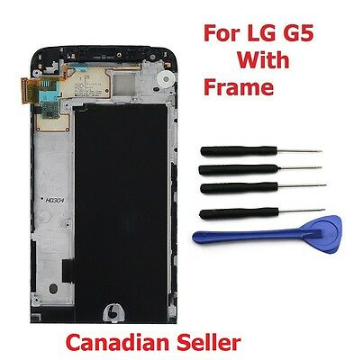 LCD Display Screen Touch Digitizer Glass + Frame For LG G5 H820 H831 H840 H850