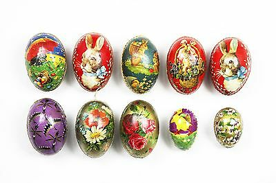 Antique German Lithographed Easter Egg Candy Containers 10pc
