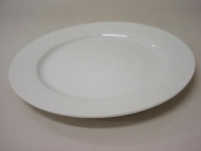 (30441) Plato Relieve Concentrico Llano Porcelana Blanco