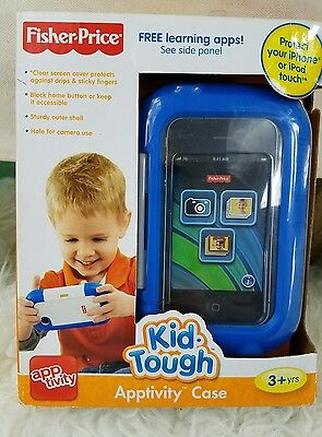 Fisher Price Kid Tough Apptivity Case Blue for Apple iPhone or iPod -NEW!
