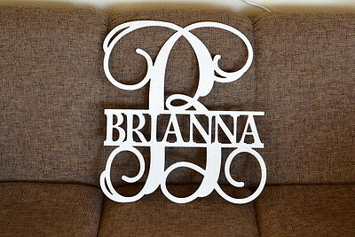 """20"""" Monogram Wooden Letter Nursery Baby Shower Name Personalized Unfinished"""