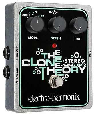 EHX Electro Harmonix Stereo Clone Theory, Brand New in Box, Free World Shipping