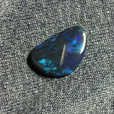 4+ carat Natural Black Opal - Lightning Ridge, Australia, hand cut, non-enhanced