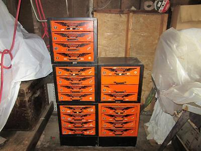 Vintage Dorman, 5 Sections, 4 Drawer, Industrial Supply Parts Cabinets, Bins