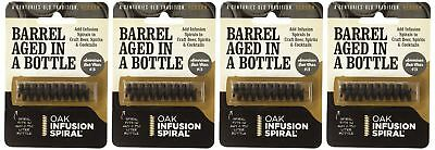 4 Pack - Barrel Aged in a Bottle Oak Infusion Spiral - Barrel Age Whiskey... NEW