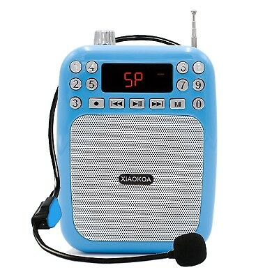 XIAOKOA Ultralight Voice Amplifier with Headset Microphone Mini Portable Loud...