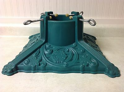 Excellent!  Heavy Green Christmas Tree Stand--synthetic W/ Vintage Iron Look--