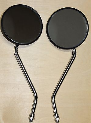 Adjustable Universal Round Rear view Side View mirror set for Honda ATVs. USA!!