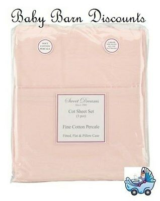 NEW Sweet Dreams - Cot Sheet Set - Pink from Baby Barn Discounts