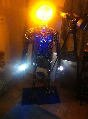 "Alien Sculpture,85Lbs. 63""tall Led Lighted For Effect"