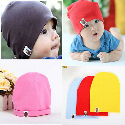 US STOCK Cute Toddler Kids Baby Boy Girl Infant Cotton Soft Warm Hat Cap Beanie