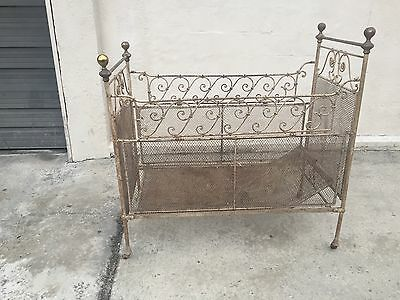 Antique Vintage Possibly Victorian Baby Child Crib Ornate