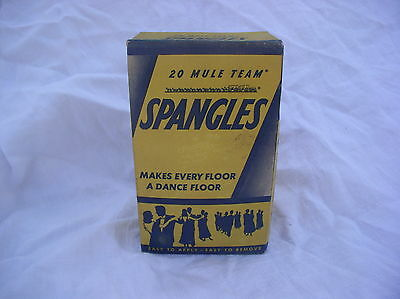 Vintage Advertising Spangles 20 Mule Team For Dance Floors Unopened Box  Full
