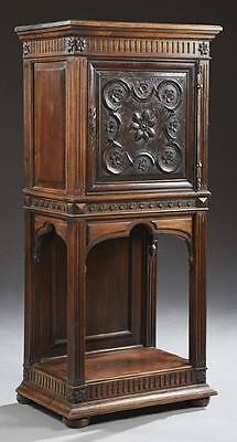 French Renaissance Style Carved Walnut Cabinet, 19th century ( 1800s )