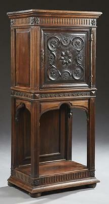 LOVELY French Renaissance Style Carved Walnut Cabinet, 19th century ( 1800s )
