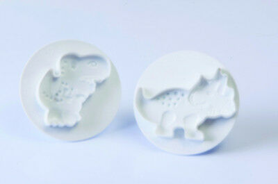 NEW Kit 2 Pcs Dinosaurs Cookie Cutter - Cake Decorating Tools