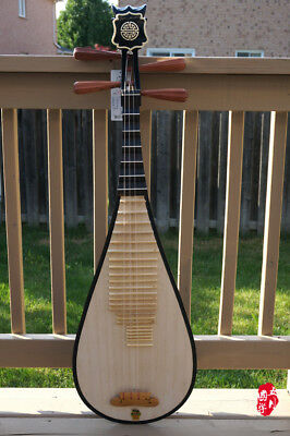 DUNHUANG Pipa, Chinese Lute - Professional Hardwood Pipa With Case - 敦煌專業硬木琵琶