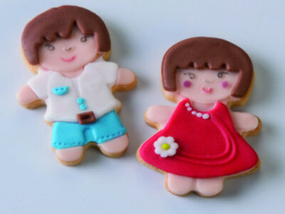 NEW Kit 2 Pcs Little Girl And Boy Cookie Cutter - Cake Decorating Tools