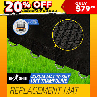 NEW Up Shot 16ft Replacement Trampoline Mat - 108 Spring Round Spare Foot Parts