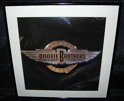 "DOOBIE BROTHERS Cycles (Framed Original 1988 U.S. ""In-Store"" Promo Flat)"