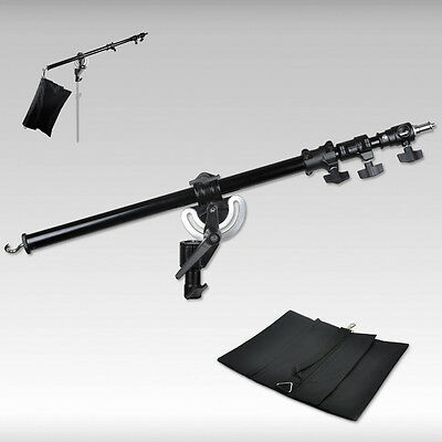 Metal Heavy Duty Photography Studio Boom Arm with Grip Head Clamp And Sandba