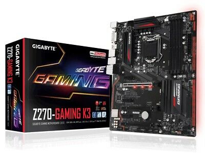Gigabyte Z270 Gaming K3 HDMI DVI USB3.1 Type-C M.2 Intel LGA1151 Motherboard
