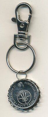 2016 Australian 10cent Coin Key Ring - 50 Years of Decimal Currency  #1011