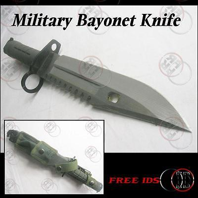 Military Bayonet TK Survival Knife /W Sheath D80