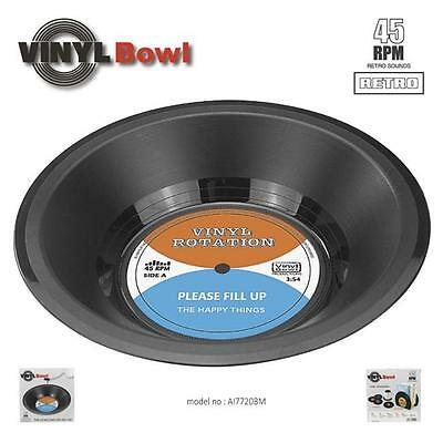 Spinning Retro Vinyl Record Bowl Vintage/ Novelty Gift for Snack Candy Nuts JJ